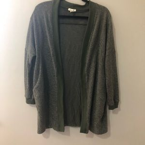 Urban Outfitters silence + noise olive green fuzzy